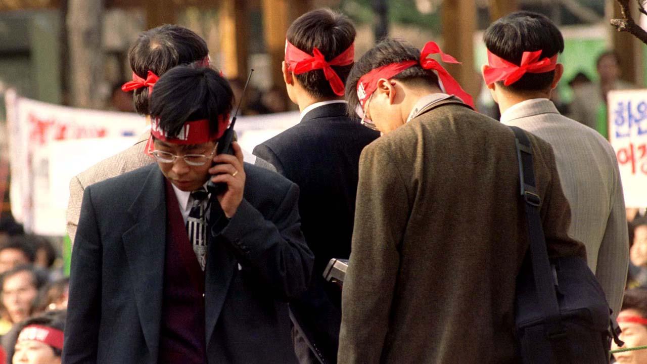 崩壊 韓国 金融