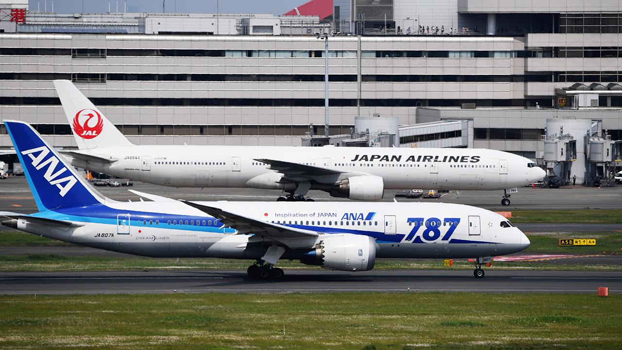 Resultado de imagen para 全日本空輸(ANA) そして 日本航空(JAL)